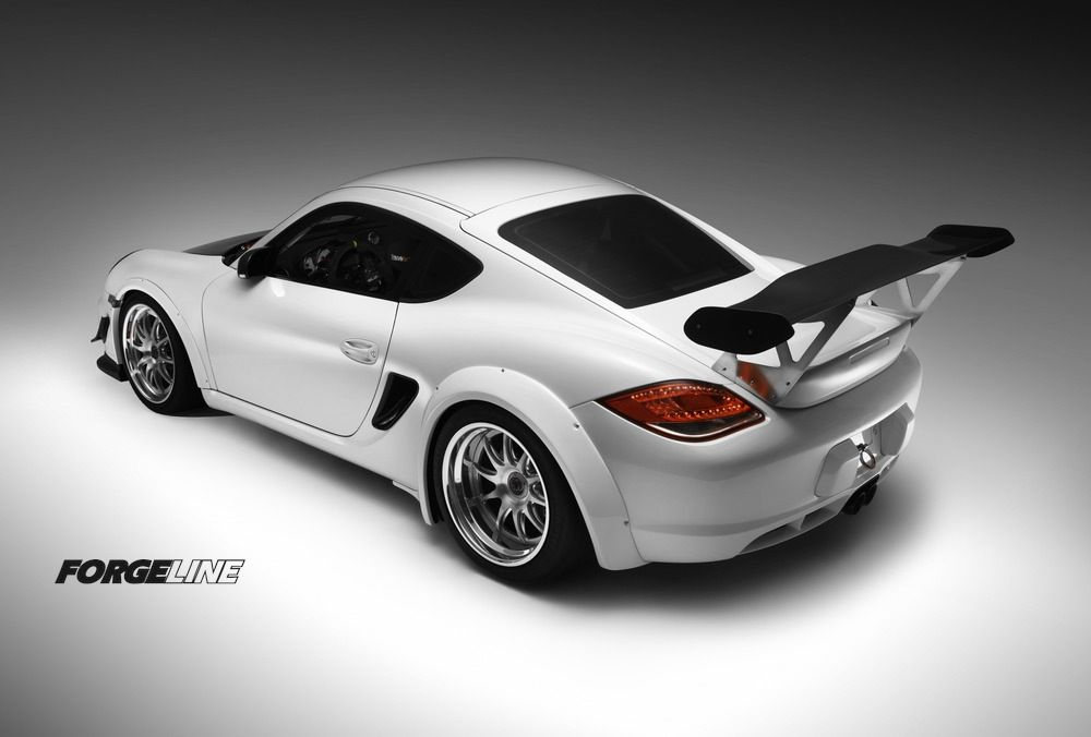 This track-prepped wide body Porsche Cayman by DeMan Motorsport is equipped with Cup Car center lock hubs and 18-inch Forgeline GZ3R center locking wheels finished with Brushed centers and Polished outers. See more at: http://www.forgeline.com/customer_gallery_view.php?cvk=1038  #Forgeline #GZ3R #centerlock #notjustanotherprettywheel #madeinUSA #Porsche #Cayman