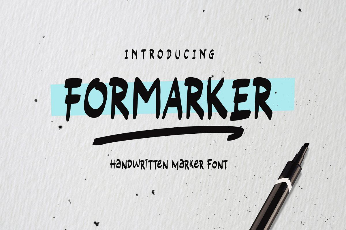 Formarker in 2020 Best script fonts, All caps font, Cool