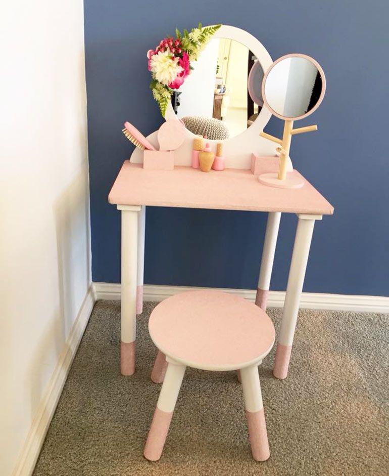 cute kmart wooden vanity table