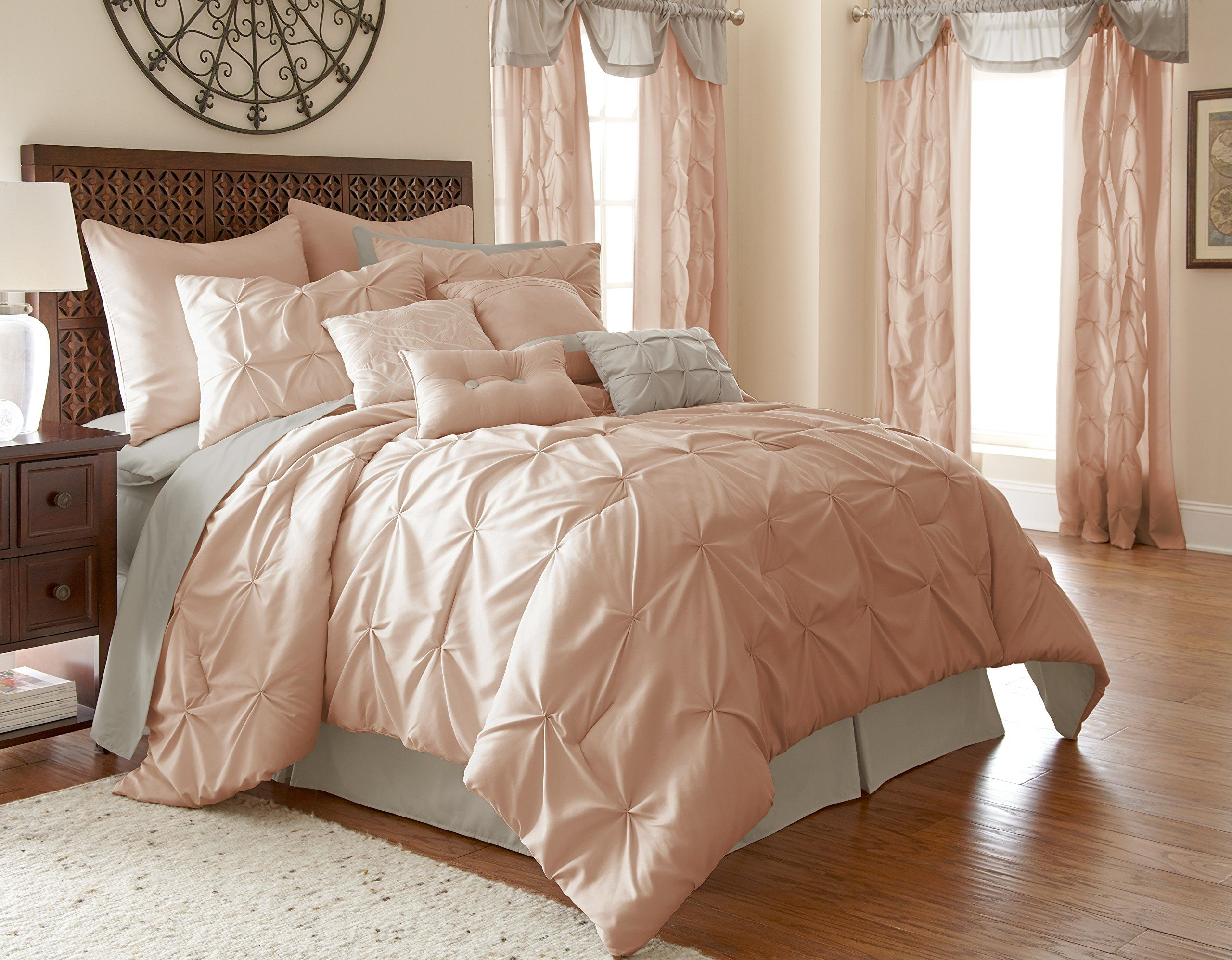 Amrapur Elb Piece Ella Blush Comforter Set Queen Bedding Jpg 2560x1994 Kim  Kardashian Bed Comforter