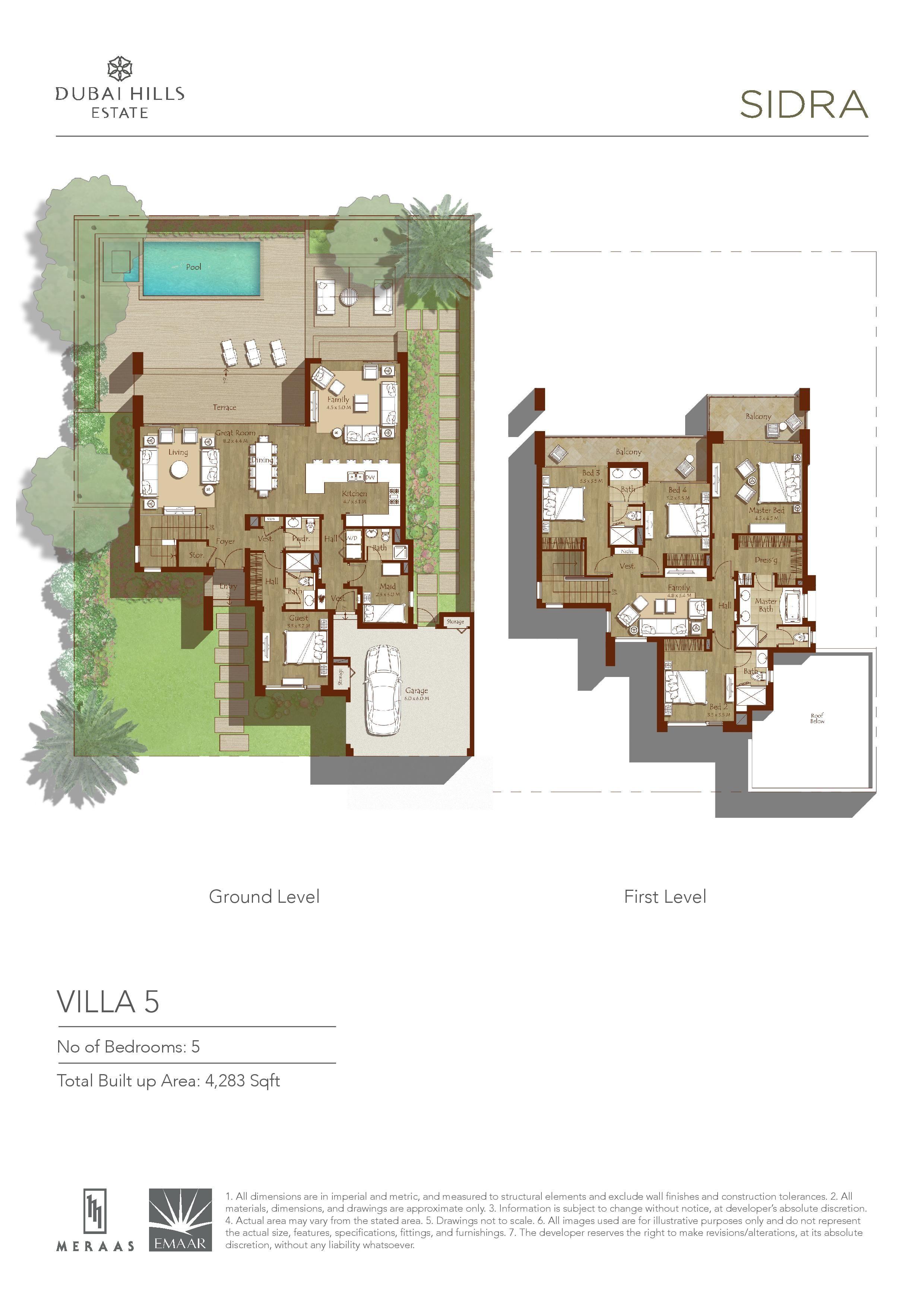 Sidra Villa Floor Plans Dubai Hills Estates Floor Plans Diy House Plans Villa Plan
