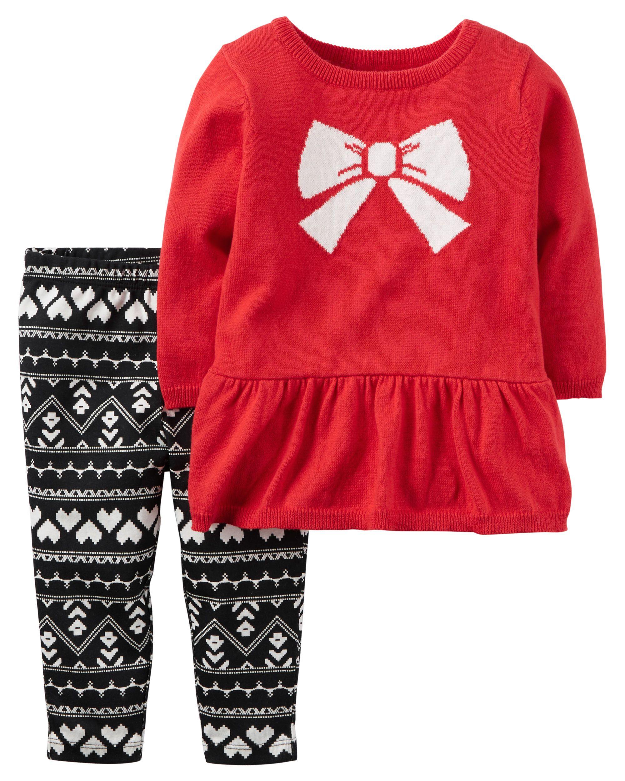 2 Piece Little Sweater Set Baby Stuff Baby Carters Baby Girl