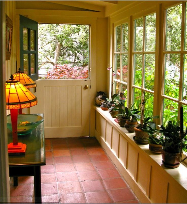Enclosed Porch Decorating Ideas: Terracota Flooring For Enclosed Porch