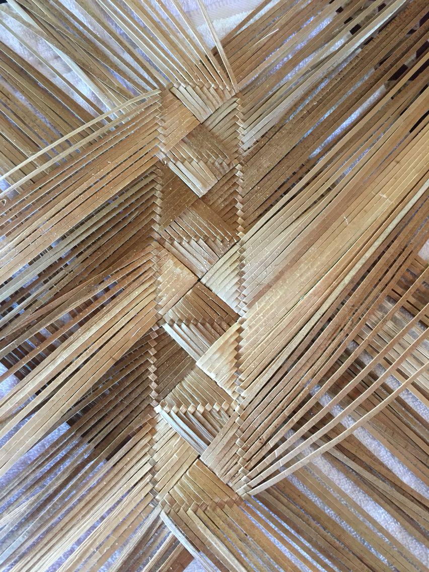 Hawaiian Lauhala Piko Purse Started Basket Weaving Flax Weaving