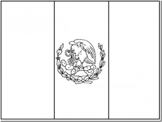 Mexican Flag Coloring Pages Picture 7 Flag Coloring Pages