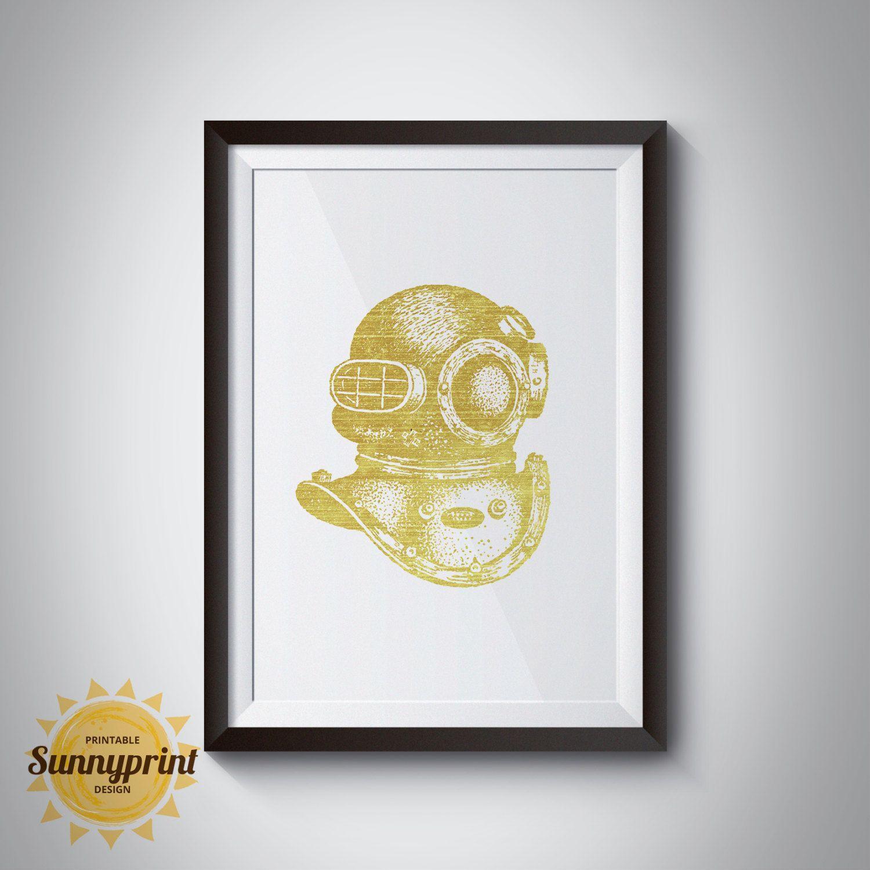 Gold Foil Wall Art Printable - Wall Art Bohemian - Marine Corps ...
