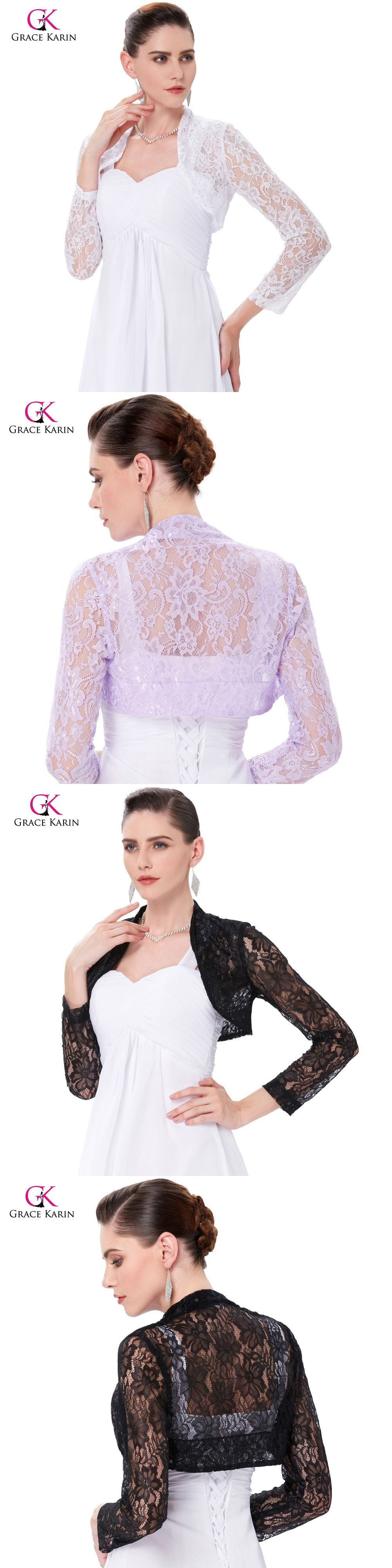0bd4fad52cf Long Sleeve Cropped Shrug Jackets For Wedding Plus Size White Lace Bridal  Boleros Wedding Jackets 2017