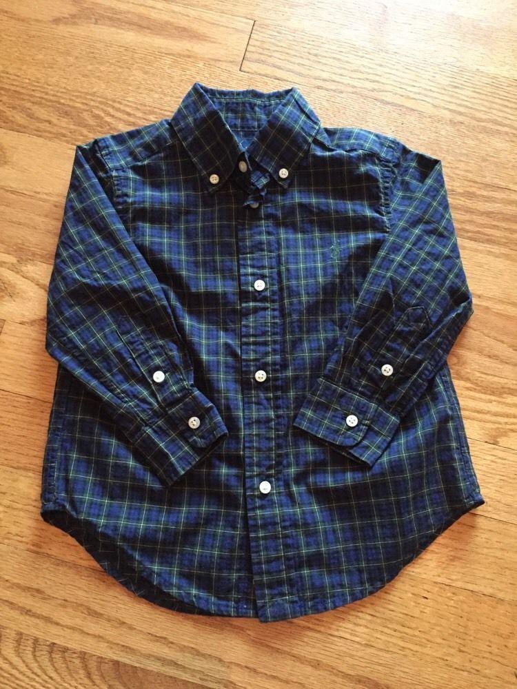 Polo Ralph Lauren Boys Shirt Long Sleeve Navy Blue 2 2T | eBay