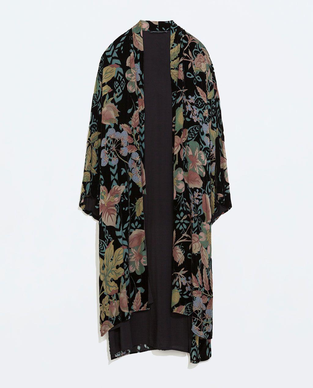 ZARA ÚLTIMA SEMANA KIMONO LARGO TERCIOPELO | Kimono