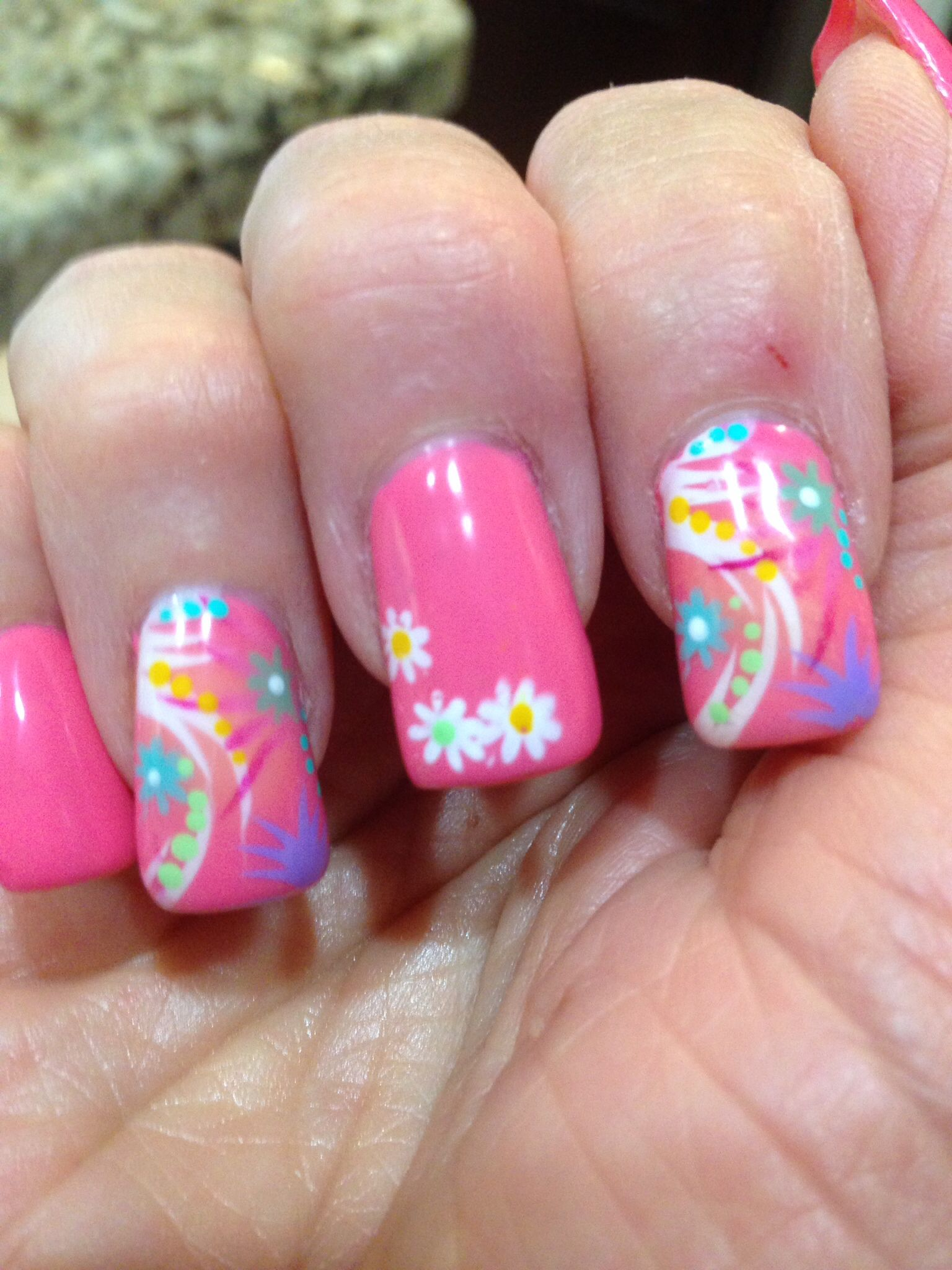 Airbrush Nail Art Lots Of Dots Nails Pinterest Airbrush
