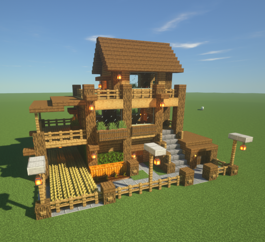 I Listened To Your Suggestions Thank You And I Now Present Version 2 Of My Basic House Mean Minecraft Houses Survival Minecraft Blueprints Amazing Minecraft