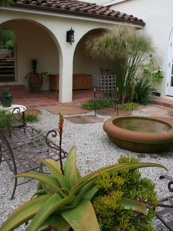 Lovely Simple Southwest Gardening Patio Decorating   Best Patio Design .