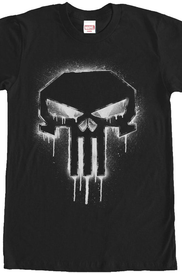 eb930082c Spray Paint Punisher Geeks: Enjoy the comfort of home or travel the great  outdoors in this men's style shirt that has been designed and illustrated  with ...