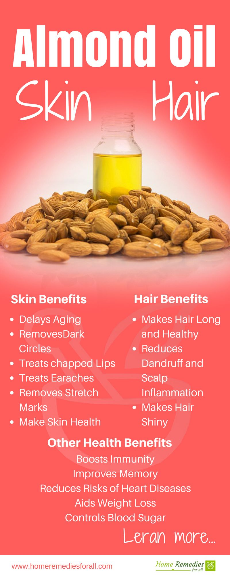 use almond oil for face, skin , scalp and hair. Almond oil offers