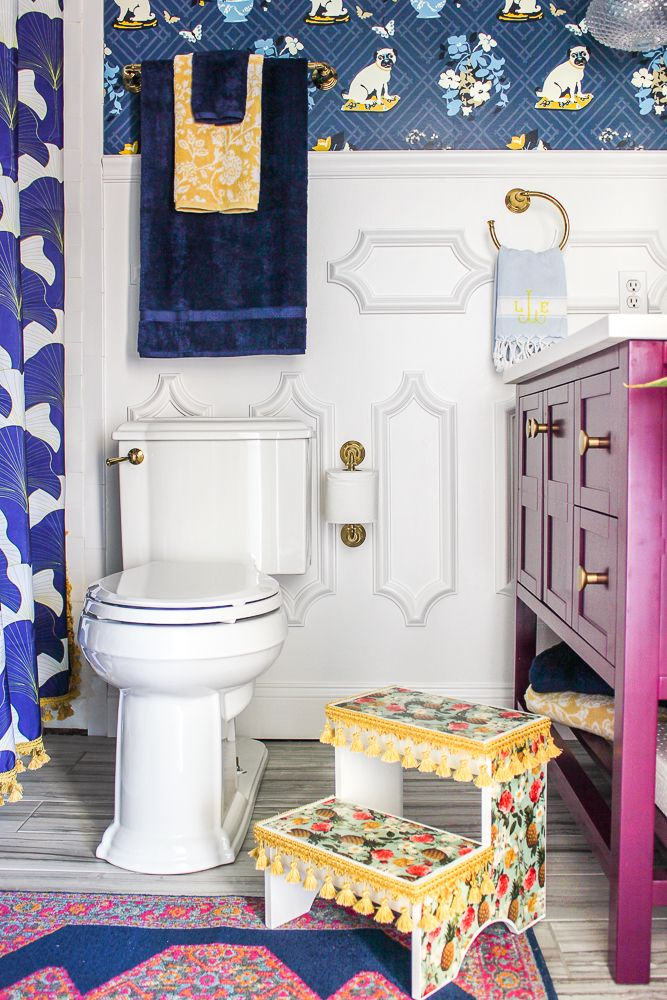 Photo of Kids Colorful Boho Bathroom Makeover