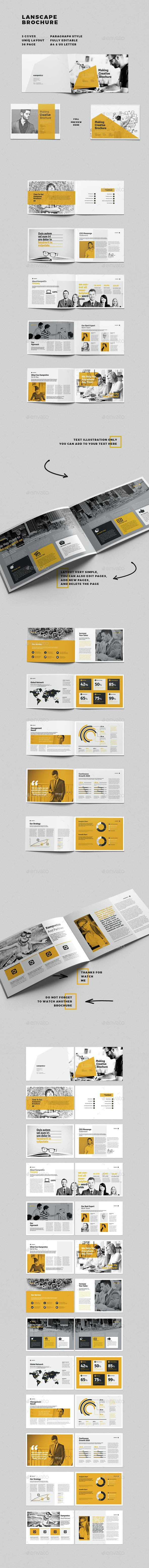 Landscape Brochure  Brochures Brochure Template And Adobe Indesign