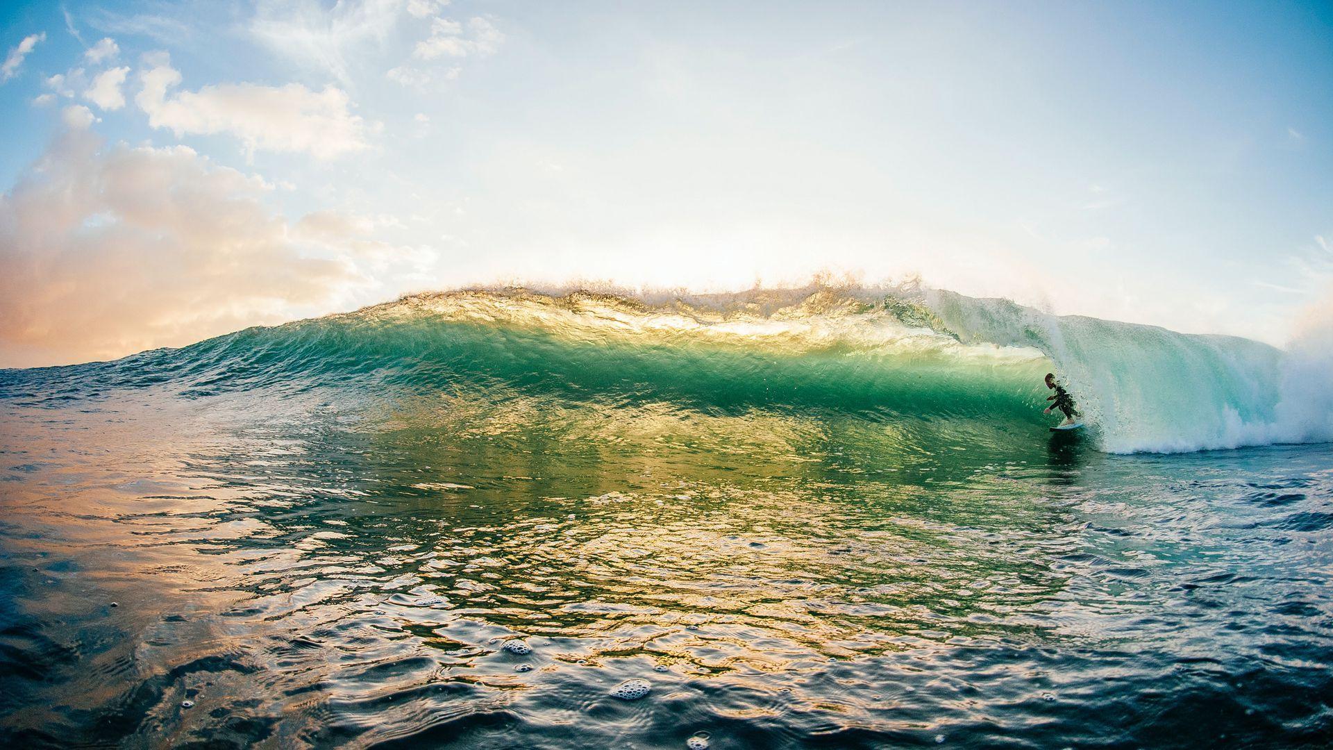 Wallpaper Surfer Sky Ocean Surfing Wave Surfing Waves Nature Images Waves Hd wallpaper surfer wave ocean sky