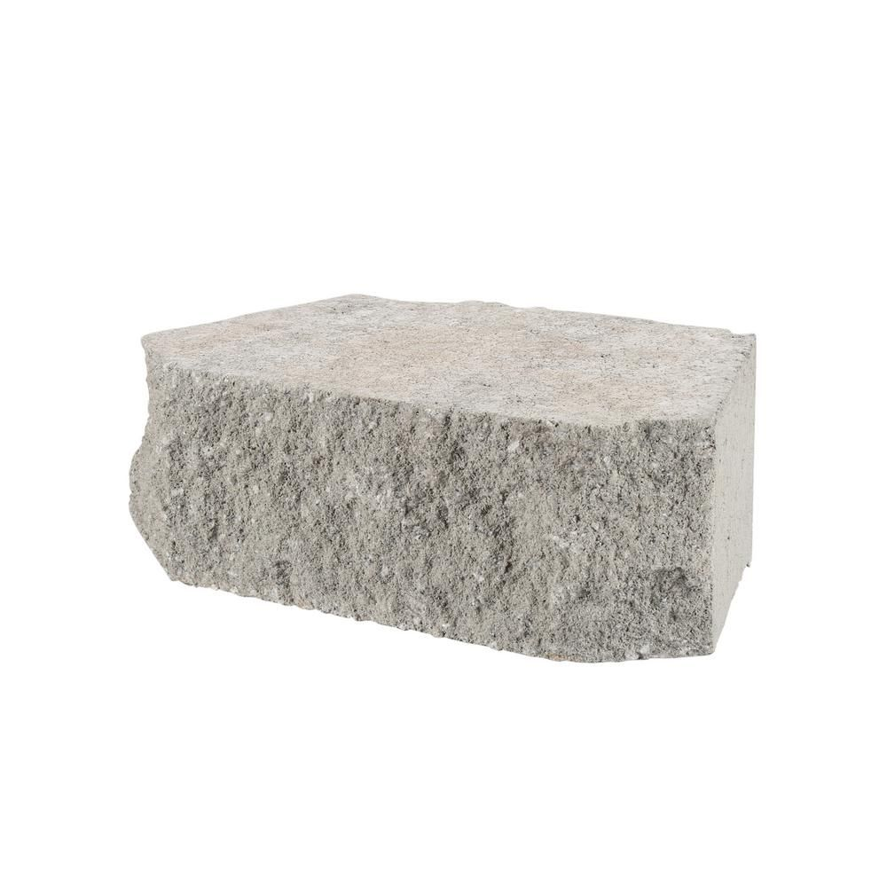4 In X 11 75 In X 6 75 In Pewter Concrete Retaining Wall Block 81100 The Home Depot Concrete Retaining Walls Retaining Wall Block Retaining Wall