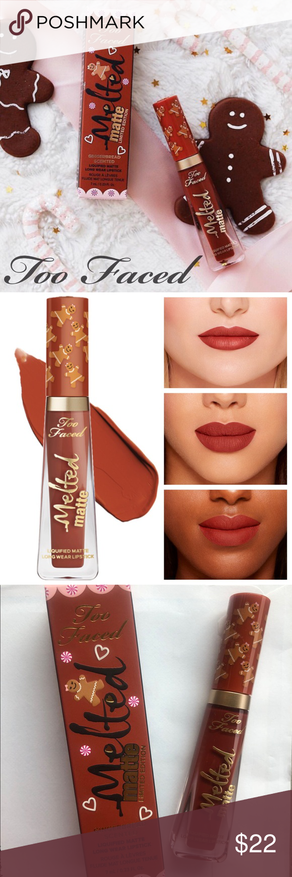 ????NEW Too Faced GINGERBREAD GIRL Melted Lipstick ????Brand new