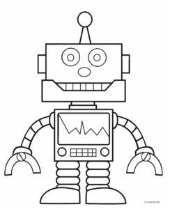 Free Printable Robot Coloring Pages For Kids . Ideas For