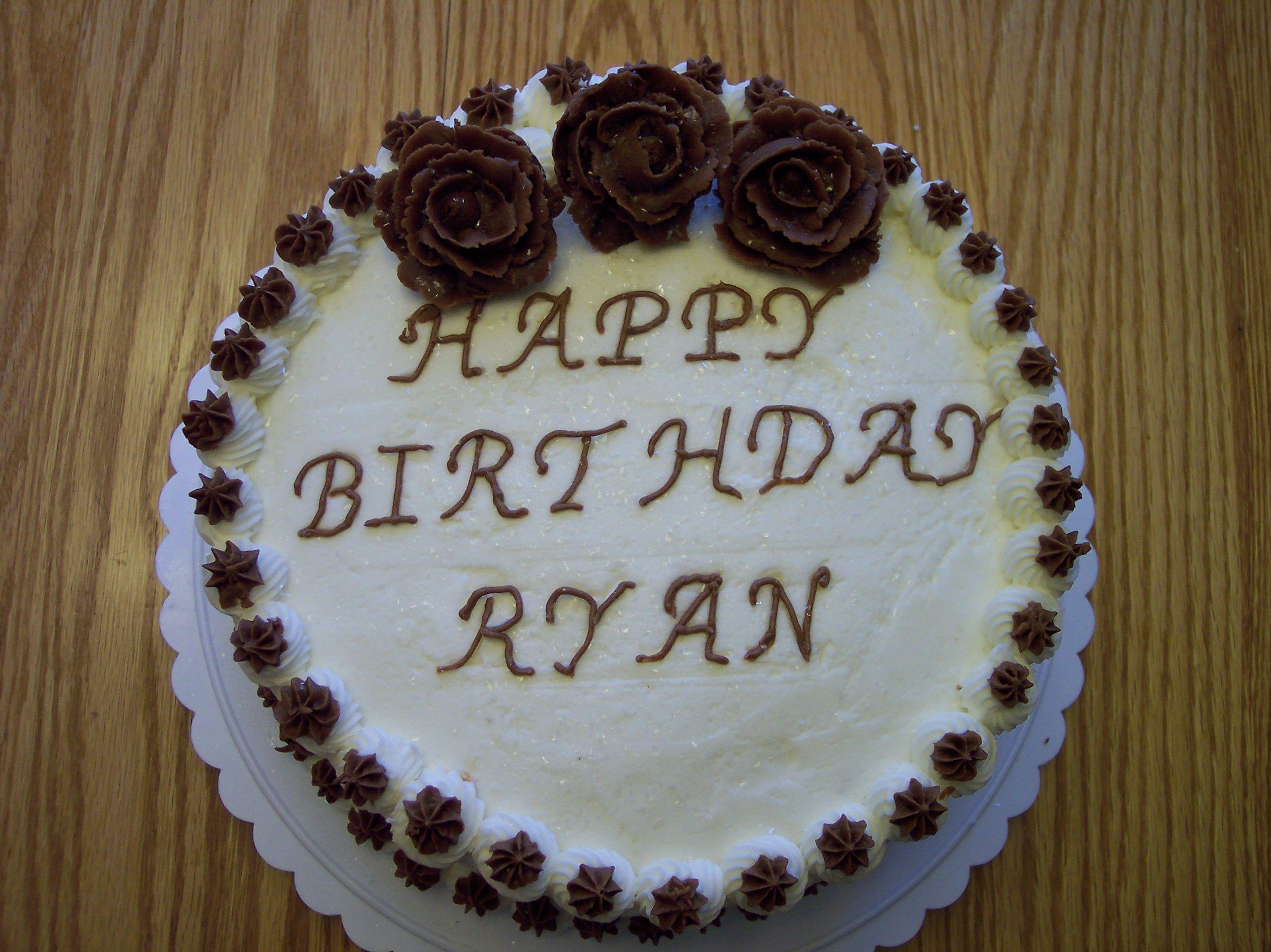 Ryan S Birthday Cake Birthday Cake For Mom Cake Designs Birthday Happy Birthday Ryan Cake