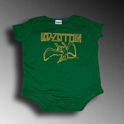 9ebe64bdc101 LED ZEPPELIN Angel Green NEW INFANT ONESIE 24M | eBay Led Zeppelin Angel,  Baby &