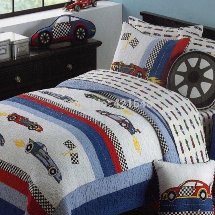 race car bedding set livraison gratuite 33 voiture de course de voiture de course enfants. Black Bedroom Furniture Sets. Home Design Ideas