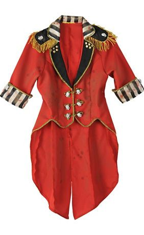 womens vintage cropped red ringmaster jacket freak show halloween pinterest kost m. Black Bedroom Furniture Sets. Home Design Ideas