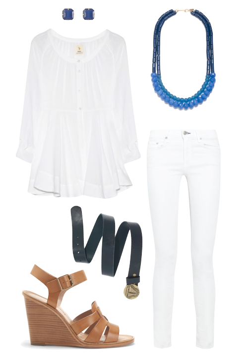Design Darling: White on white outfit.
