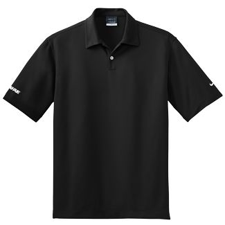 Everything about the Nike Men's Dri-Fit Black S/S Pebble Texture Polo is  perfect for an afternoon of athletic events, except it's missing your  custom logo!