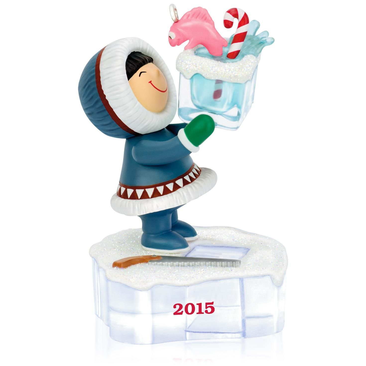 Frosty Friends Go Ice Fishing Ornament | ornaments | Pinterest ...