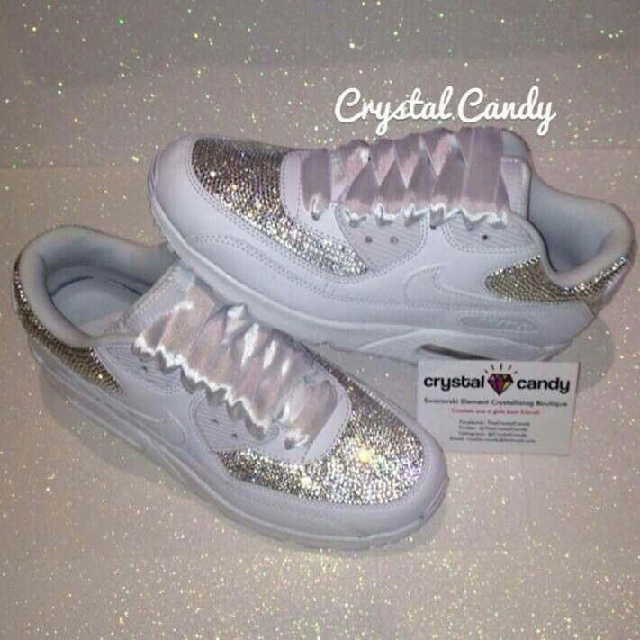 Nike air max 90 crystal wedding shoes