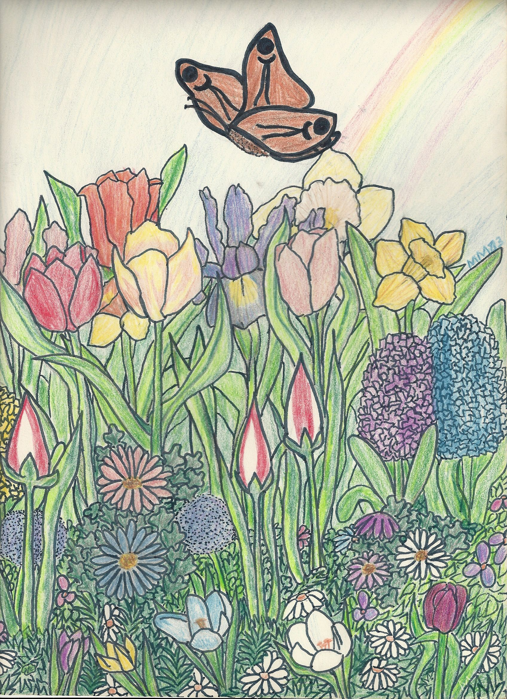 Coloured pencil and crayon drawing by me when I was about ...