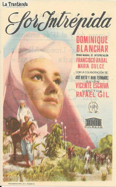 Sor Intrépida Programa De Cine Dominique Blanchar Francisco Rabal Programa De Cine Carteles De Cine Cine