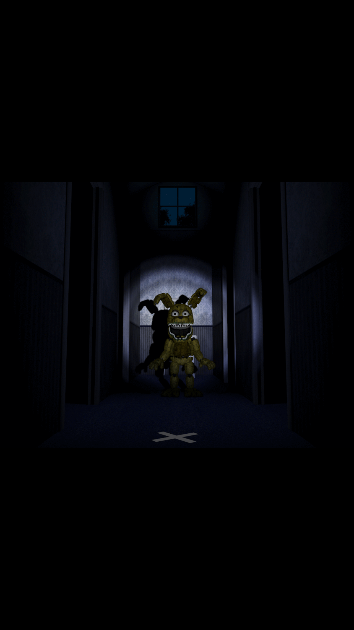 screenshot taken as plushtrap moves off of his chair in the mini
