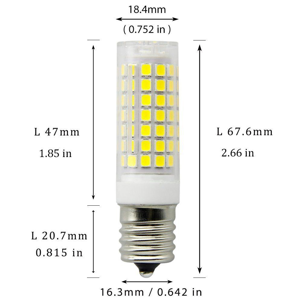 E17 Led Bulbs Dimmable 8 5 Watt Daylight White 6000k Intermediate Base Led Bulb Low Power Consumption Ac 110v For Micr In 2020 Led Bulb Ceiling Fan Light Fixtures Bulb