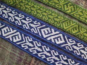 Hibernaatiopesäke: Lautanauhaohje: Birka 21 / new tablet weaving pattern: Birka 21