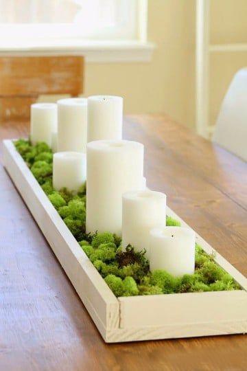 Ideas y adornos para mesa de comedor rectangular | Pinterest ...