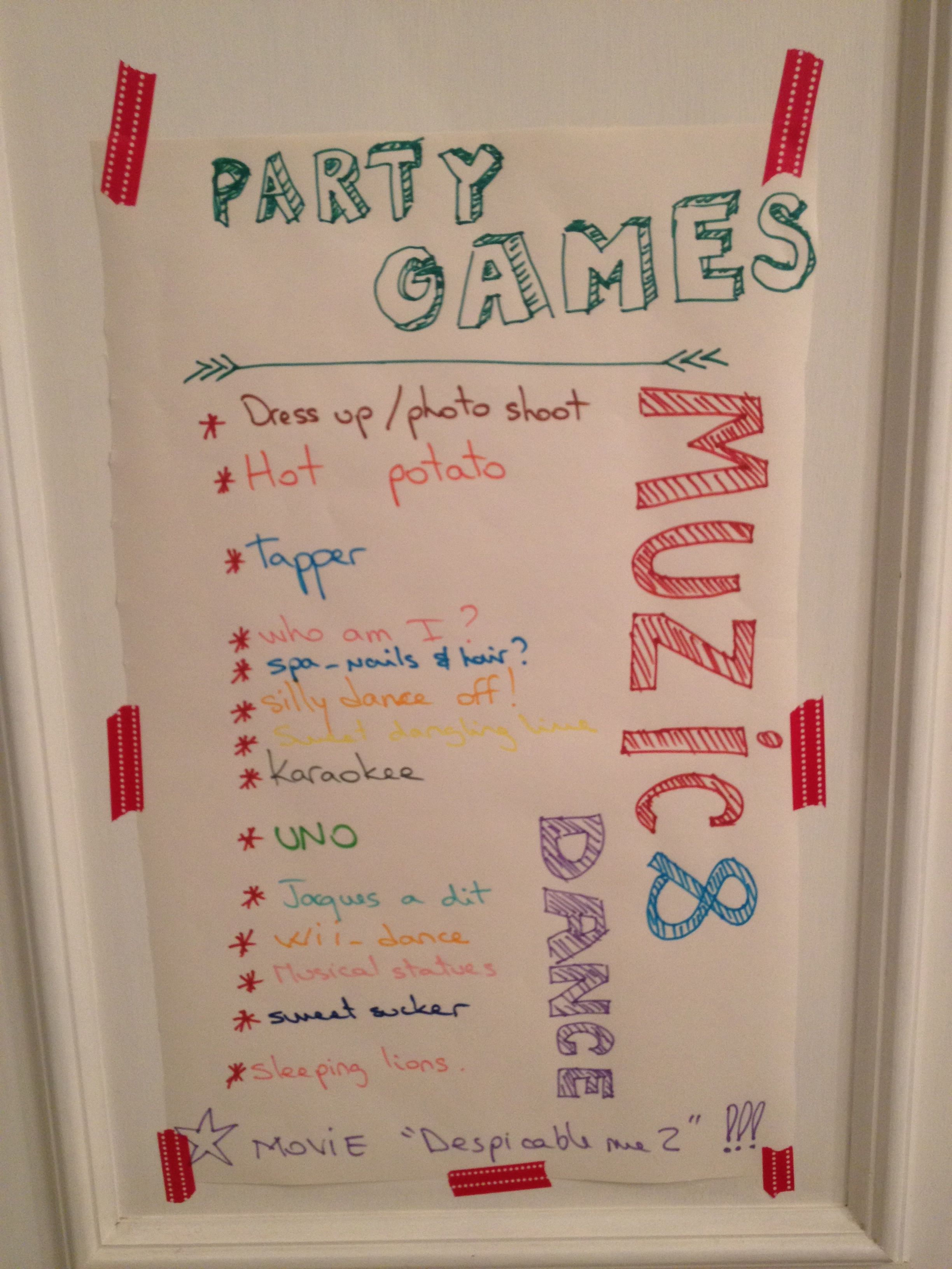 Party game ideas for 8 year old girl Parties Pinterest