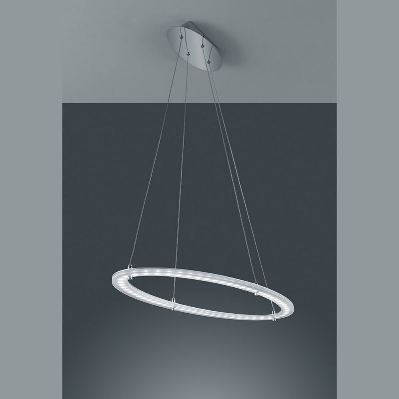 Pendelleuchte mit LED-Leuchtring, alu/chrom billig/ günstig online ...
