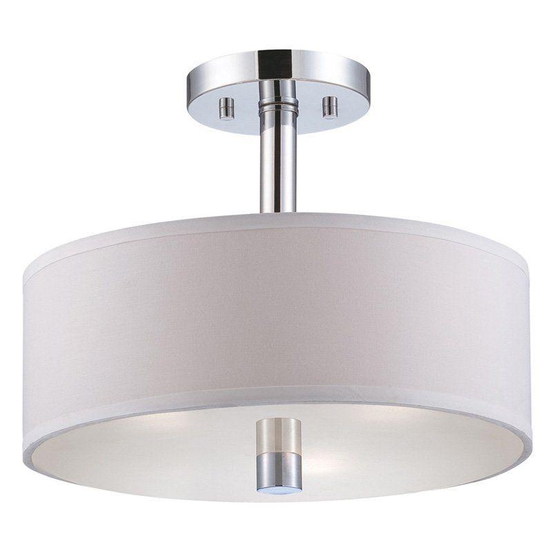 Designers fountain 84511 cordova semi flush light in chrome finish