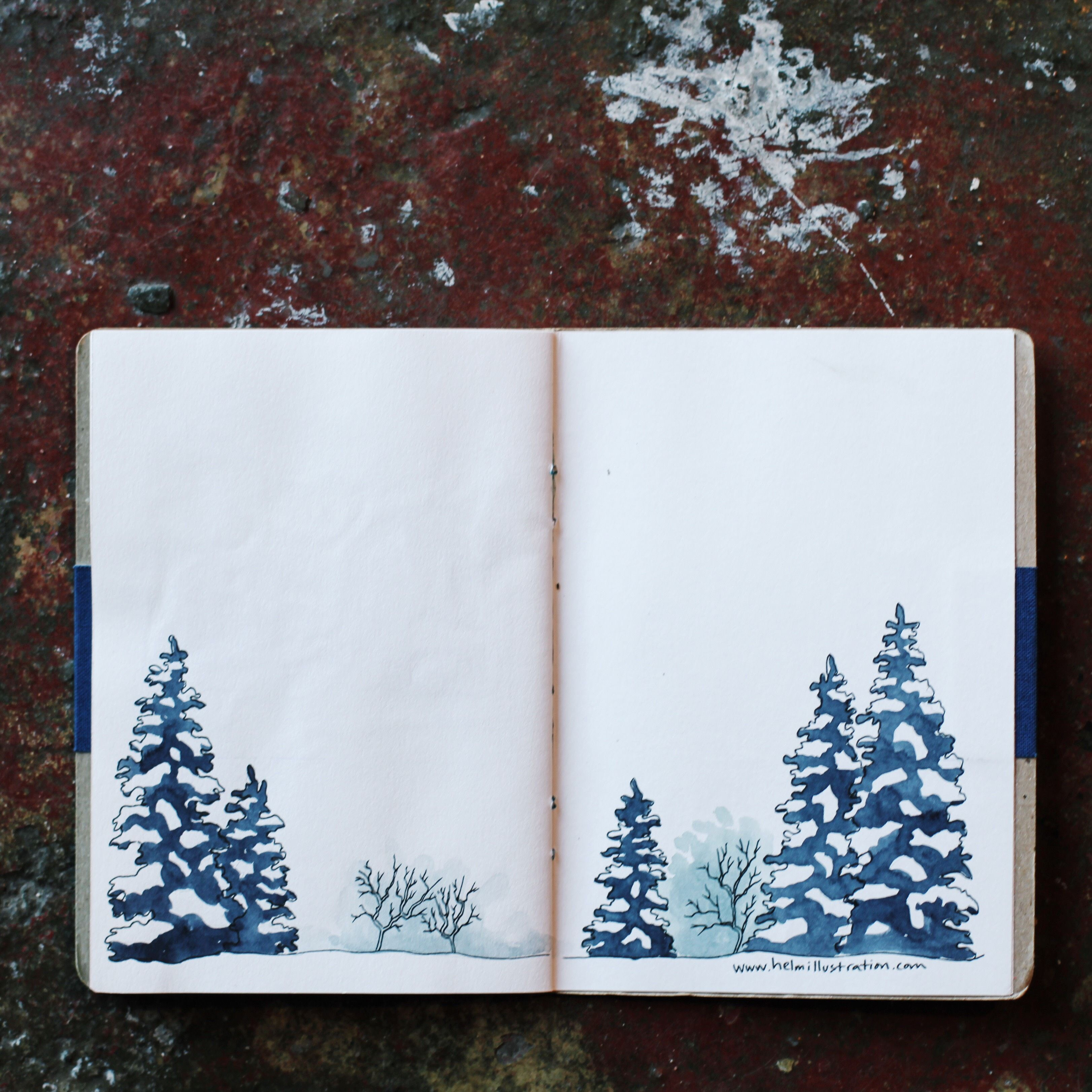 красивые зимние рисунки для скетчбука что мне