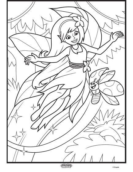 Color Alive Enchanted Forest - Fairy Coloring Page | crayola.com ...