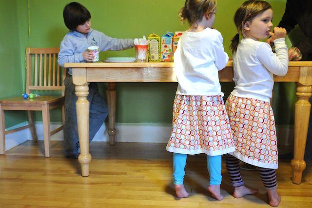skirt pajamas with leggings underneath