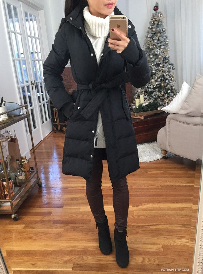 a188c2f1df7 ExtraPetite.com - Little red (bow back) riding hood    J.Crew Factory puffer  review