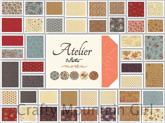 Atelier Layer Cake by 3 Sisters for Moda Fabrics