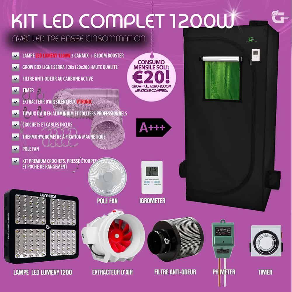 Chambre De Culture Kit Complet 1200w En 2020 Lampe Led Box De Culture Chambre De Culture