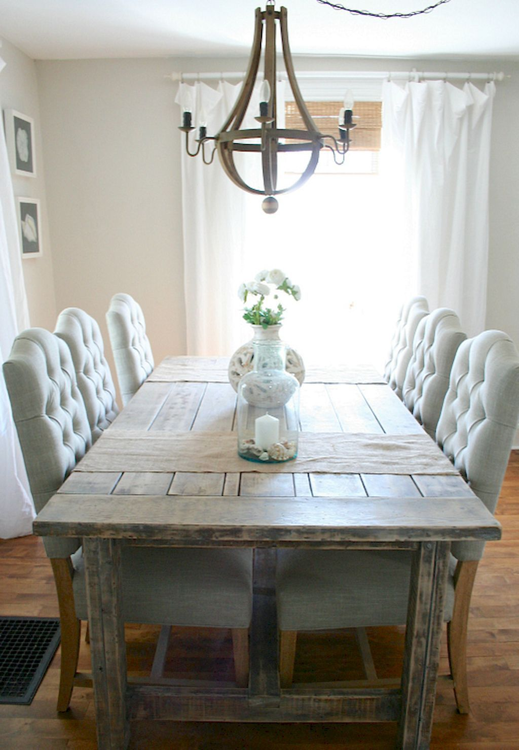 Rustic Farmhouse Dining Room Design Ideas (28) | Farmhouse ...