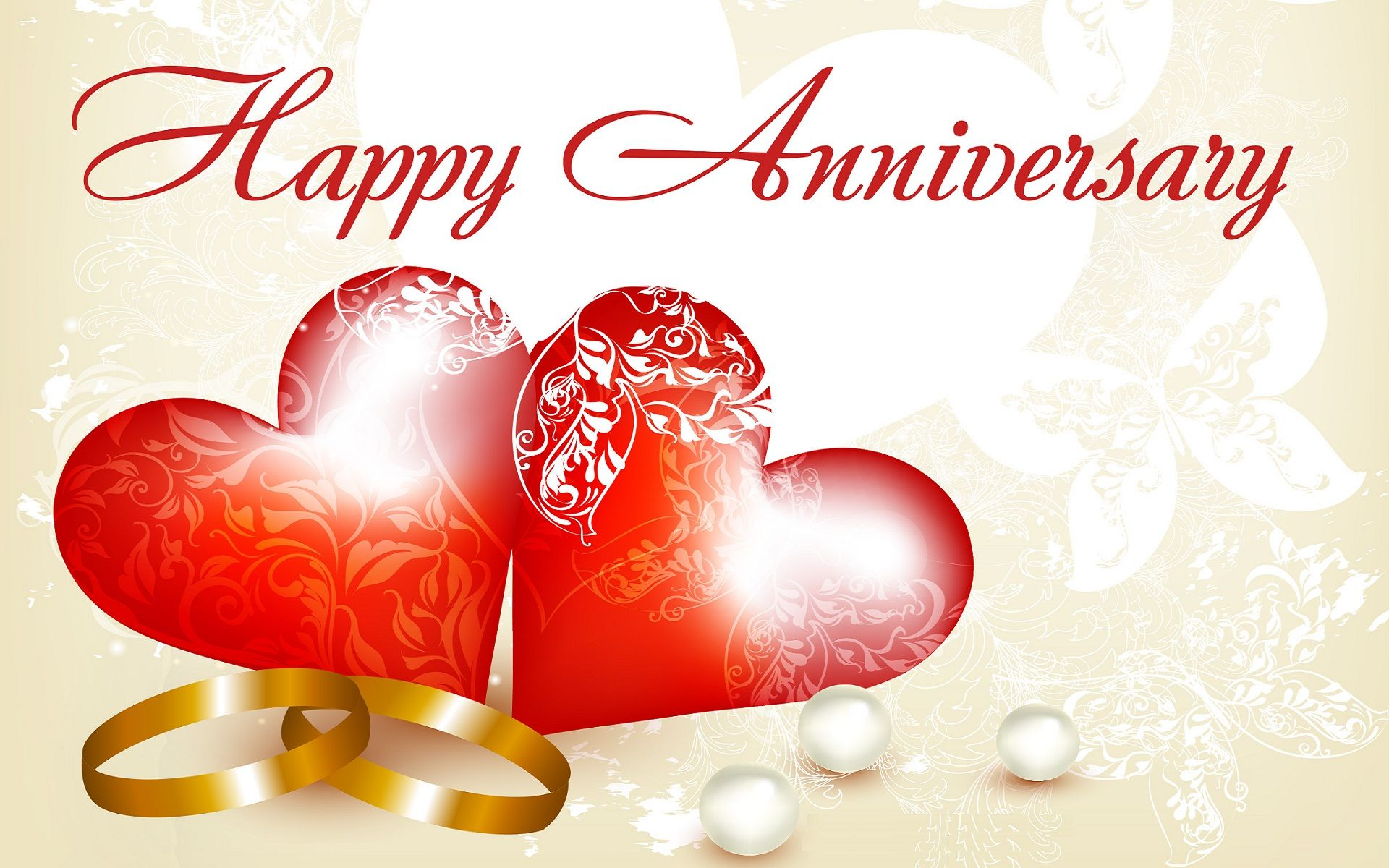 Happy Wedding Anniversary Rings Wide Hd Wallpapers Wallpapers
