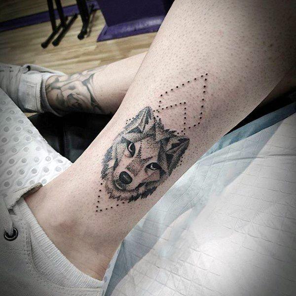 Top 113 Best Dog Tattoos Ideas For Men 2021 Inspiration Guide Tattoos For Guys Dog Tattoos Geometric Dog Tattoo